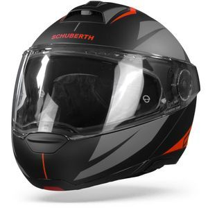 Schuberth C4 Pro Merak Black Red Modular Helmet