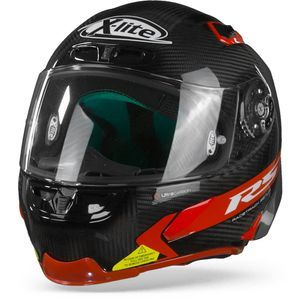 X-Lite X-803 RS Ultra Carbon Hot Lap 13 Carbon Zwart Rood