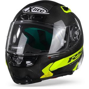 X-Lite X-803 RS Ultra Carbon Hot Lap 16 Carbon Zwart Geel