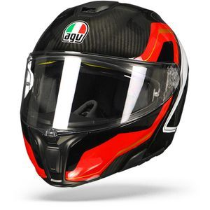 AGV Sportmodular Sharp Carbon Rood Wit