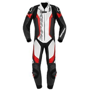 Spidi Laser Pro Perforated Wit Zwart Rood 1 Piece Racing