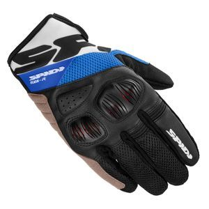 SPIDI FLASH R EVO K BLACK BLUE MOTORCYCLE GLOVES