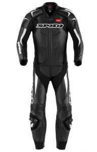 Spidi Supersport Touring Black White Two Piece Racing
