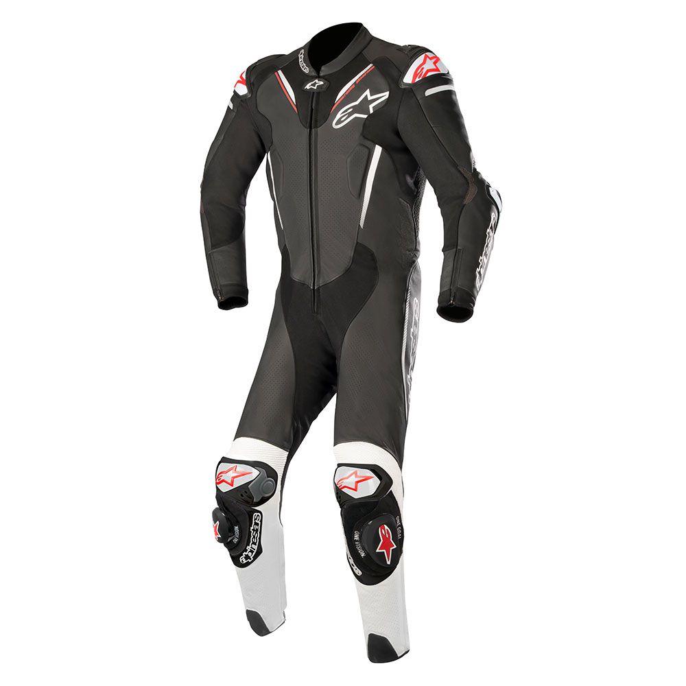 Afbeelding van alpinestars atem v3 black white leather 1pc suit