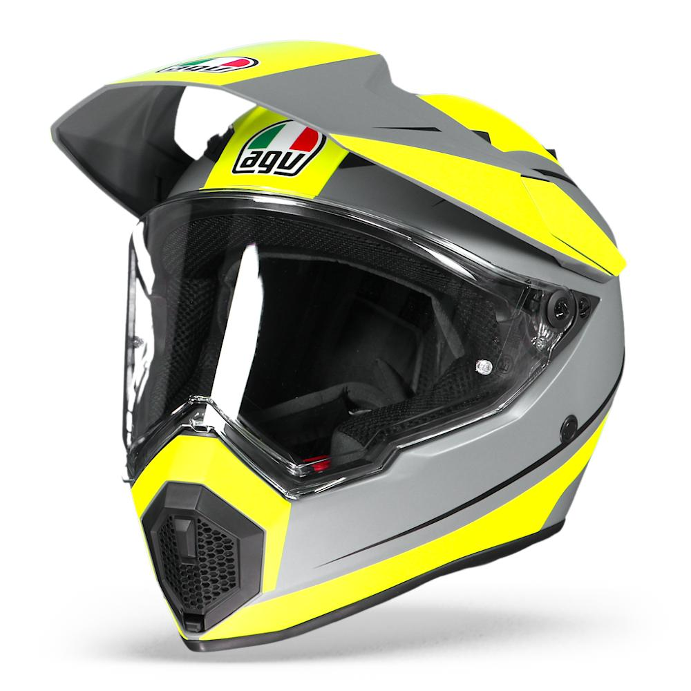 Afbeelding van agv ax9 pacific road matt grey yellow fluo black adventure helmet