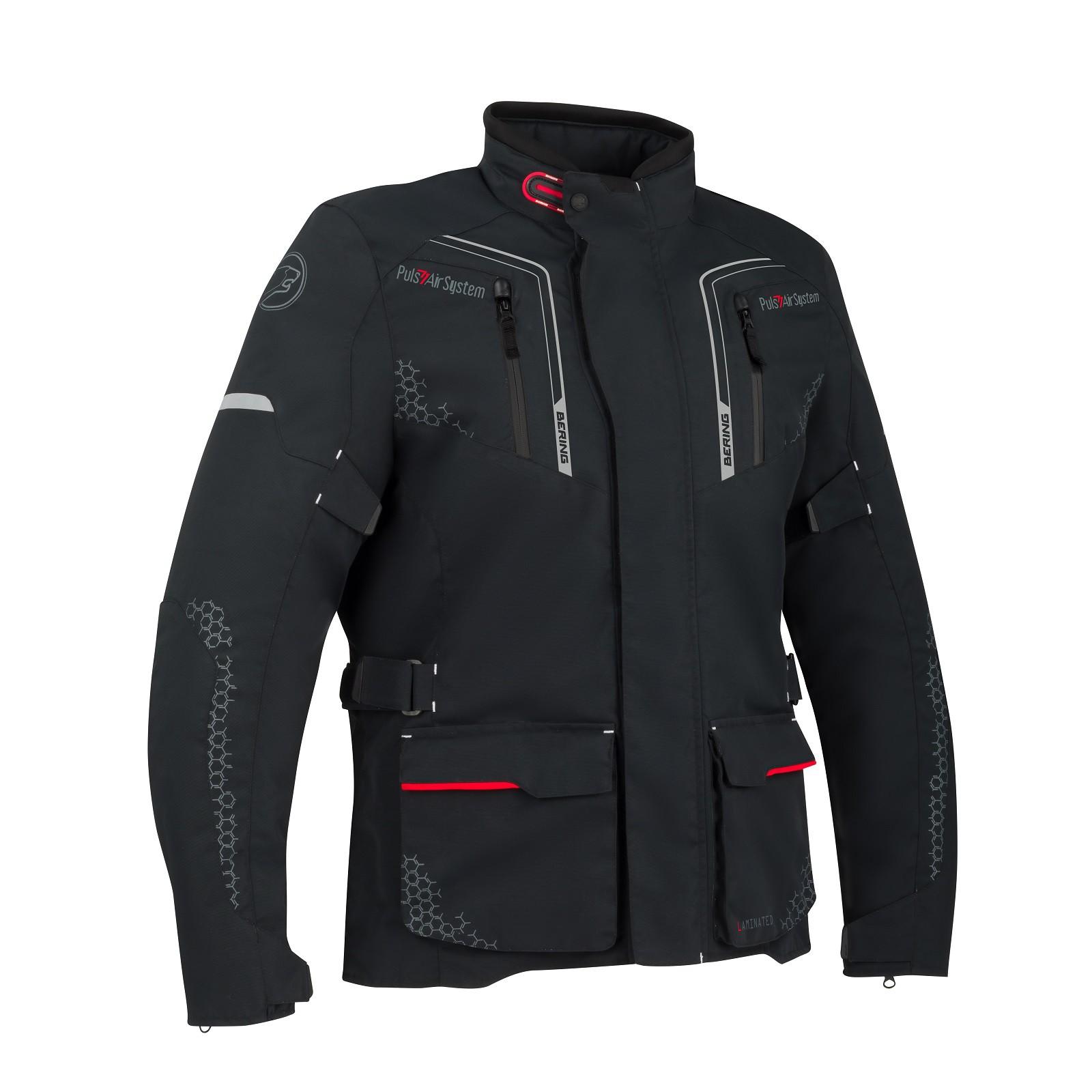 Afbeelding van bering alaska black motorcycle jacket