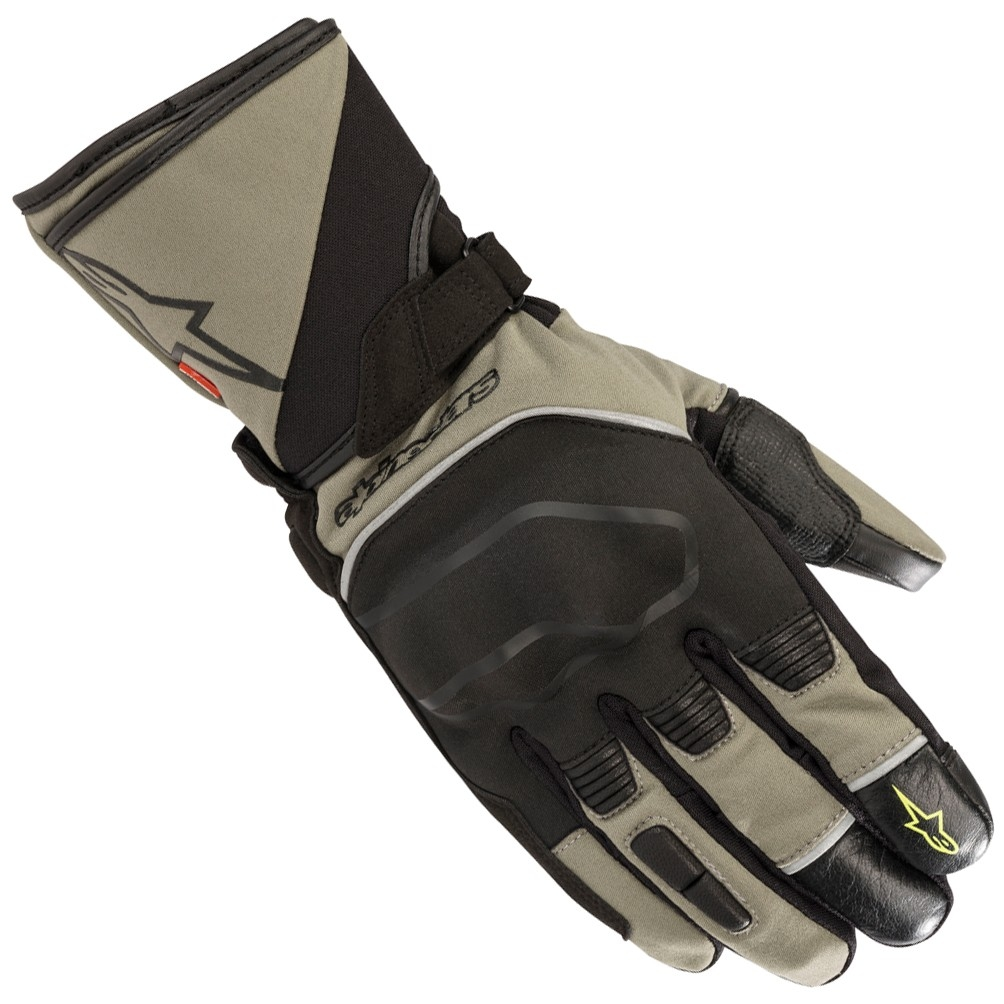 Afbeelding van alpinestars andes touring outdry military green black gloves