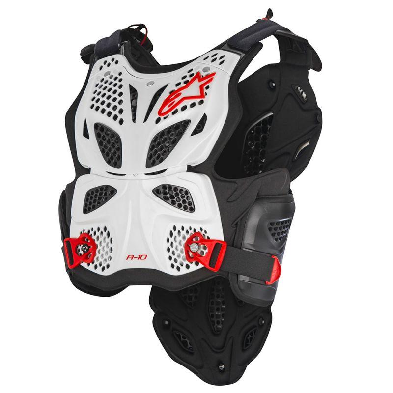 Afbeelding van alpinestars a-10 wit zwart rood borst beschermer
