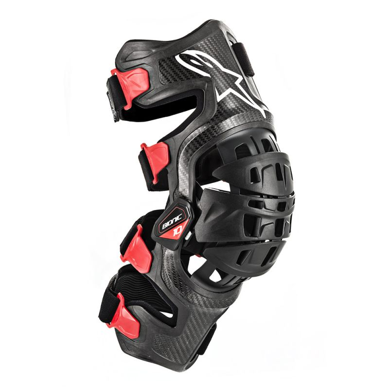 Afbeelding van alpinestars bionic-10 black red carbon right knee brace