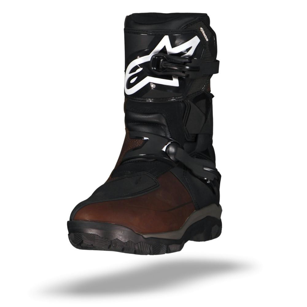 Afbeelding van alpinestars belize drystar bruin zwart oiled leather motorlaars