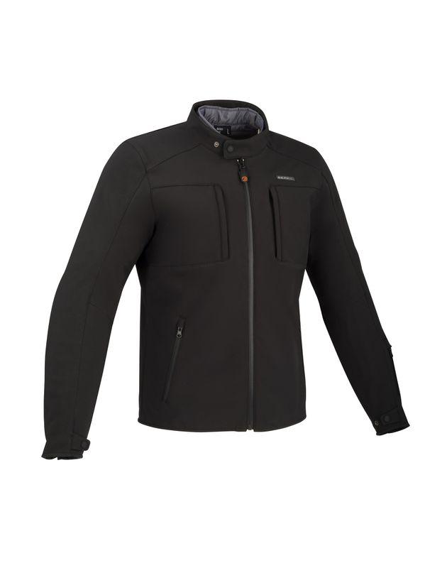Afbeelding van bering carver zwart textielen motorjas