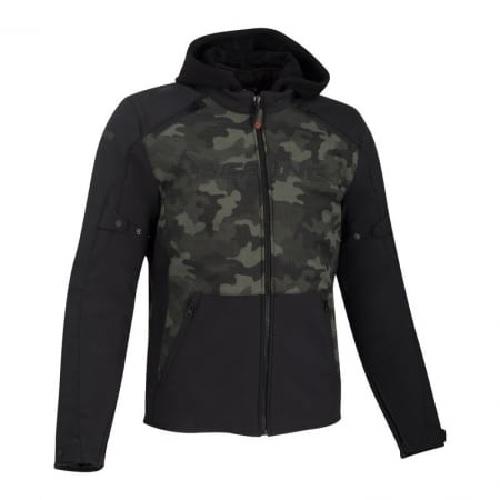 Afbeelding van bering drift black camo motorcycle jacket