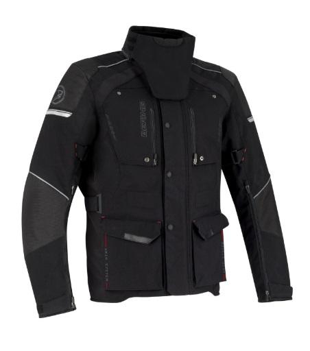 Afbeelding van bering bronko zwart textielen motorjas