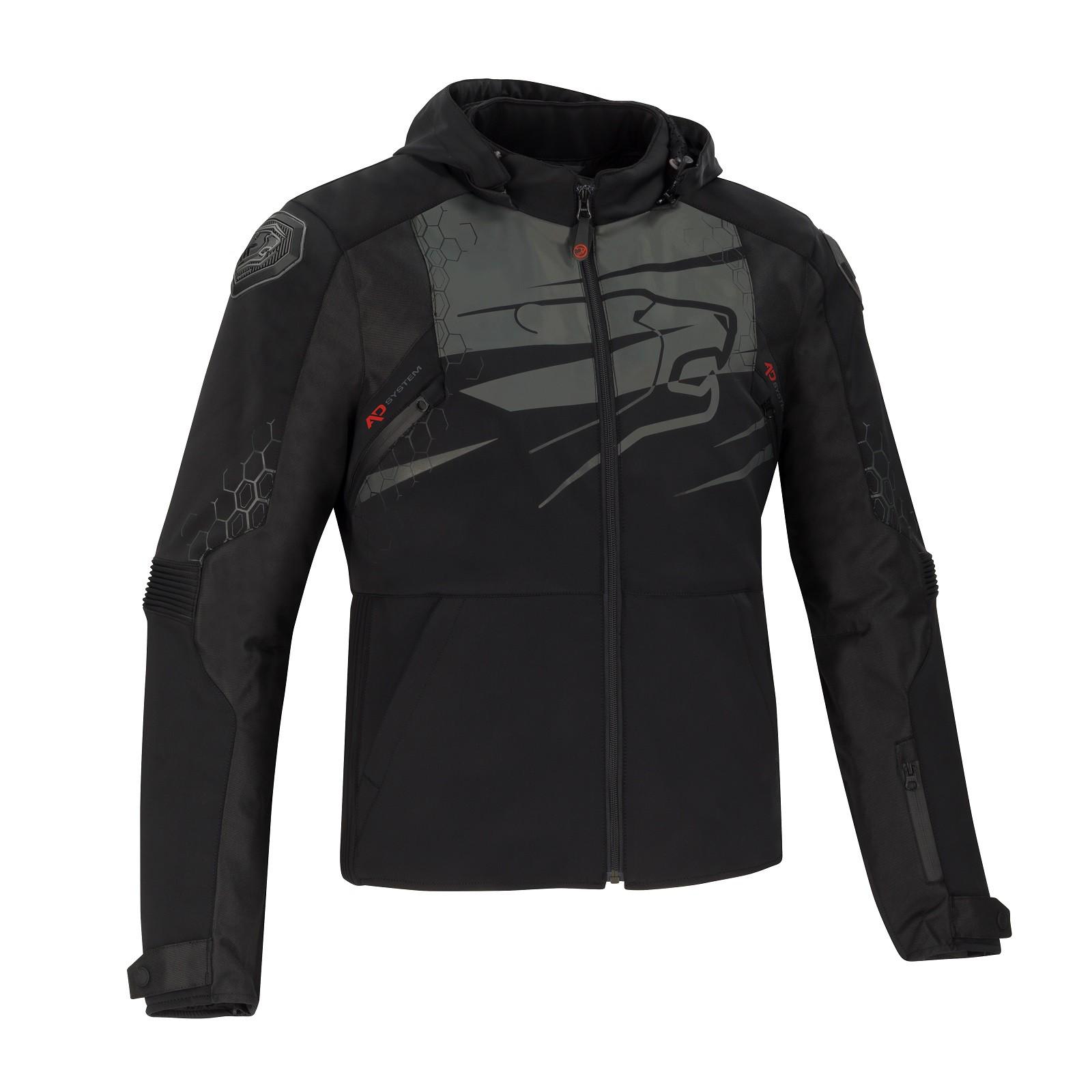 Afbeelding van bering balko zwart textielen motorjas