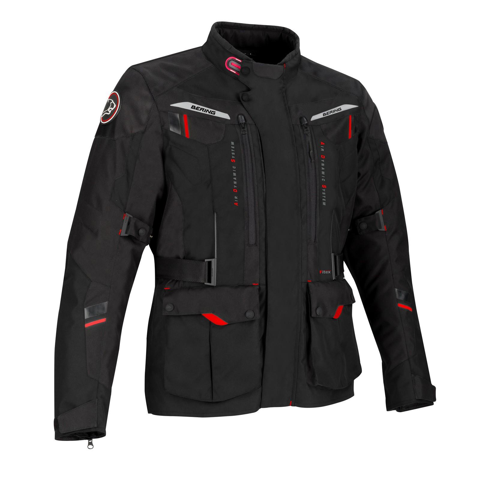 Afbeelding van bering darko zwart textielen motorjas