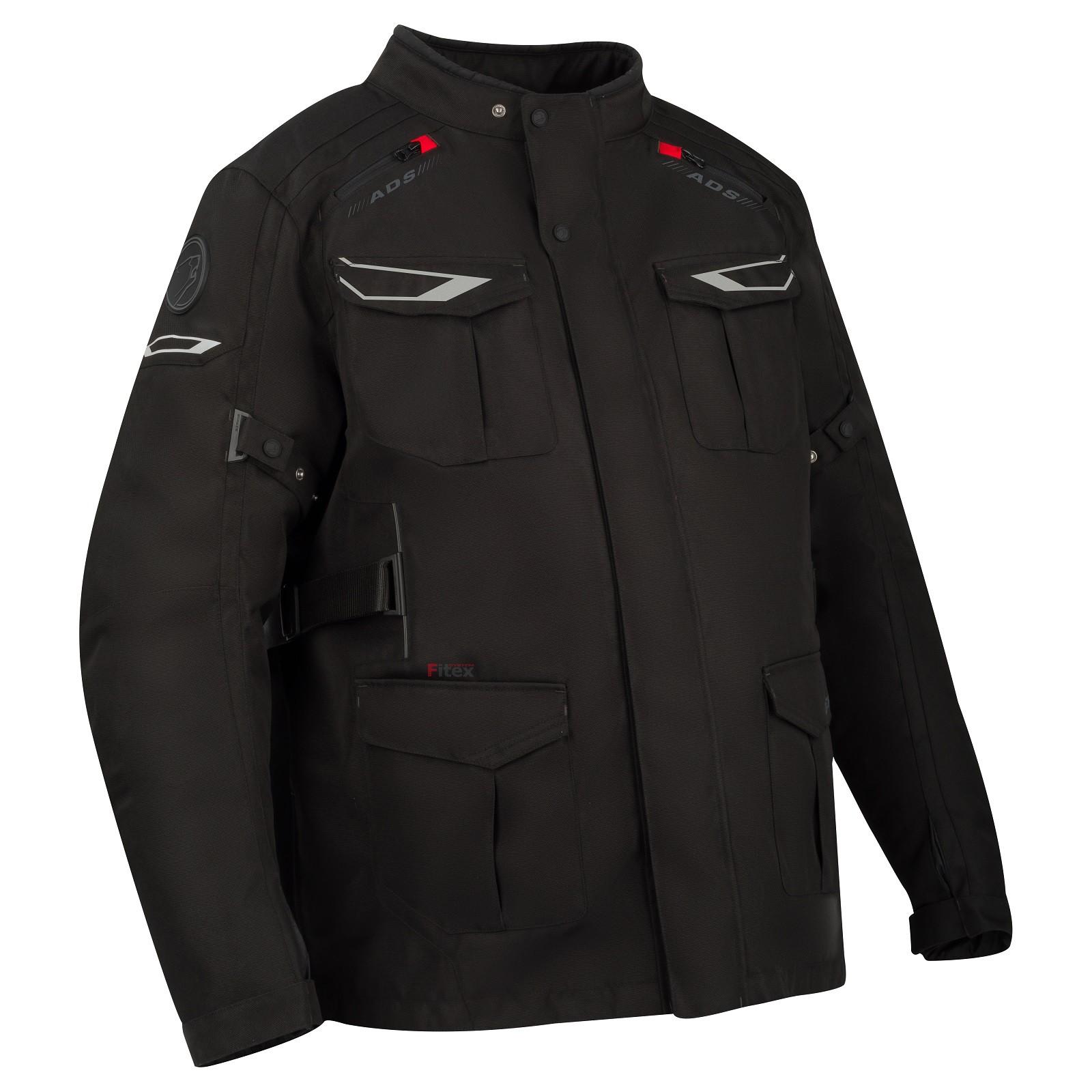 Afbeelding van bering carlos kingsize black motorcycle jacket
