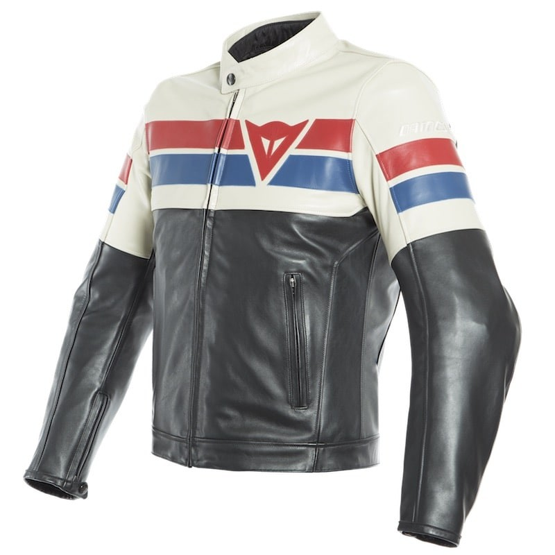 Afbeelding van 8-track black ice red leather jacket