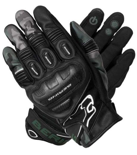 Afbeelding van bering dereck zwart camo motorhandschoenen