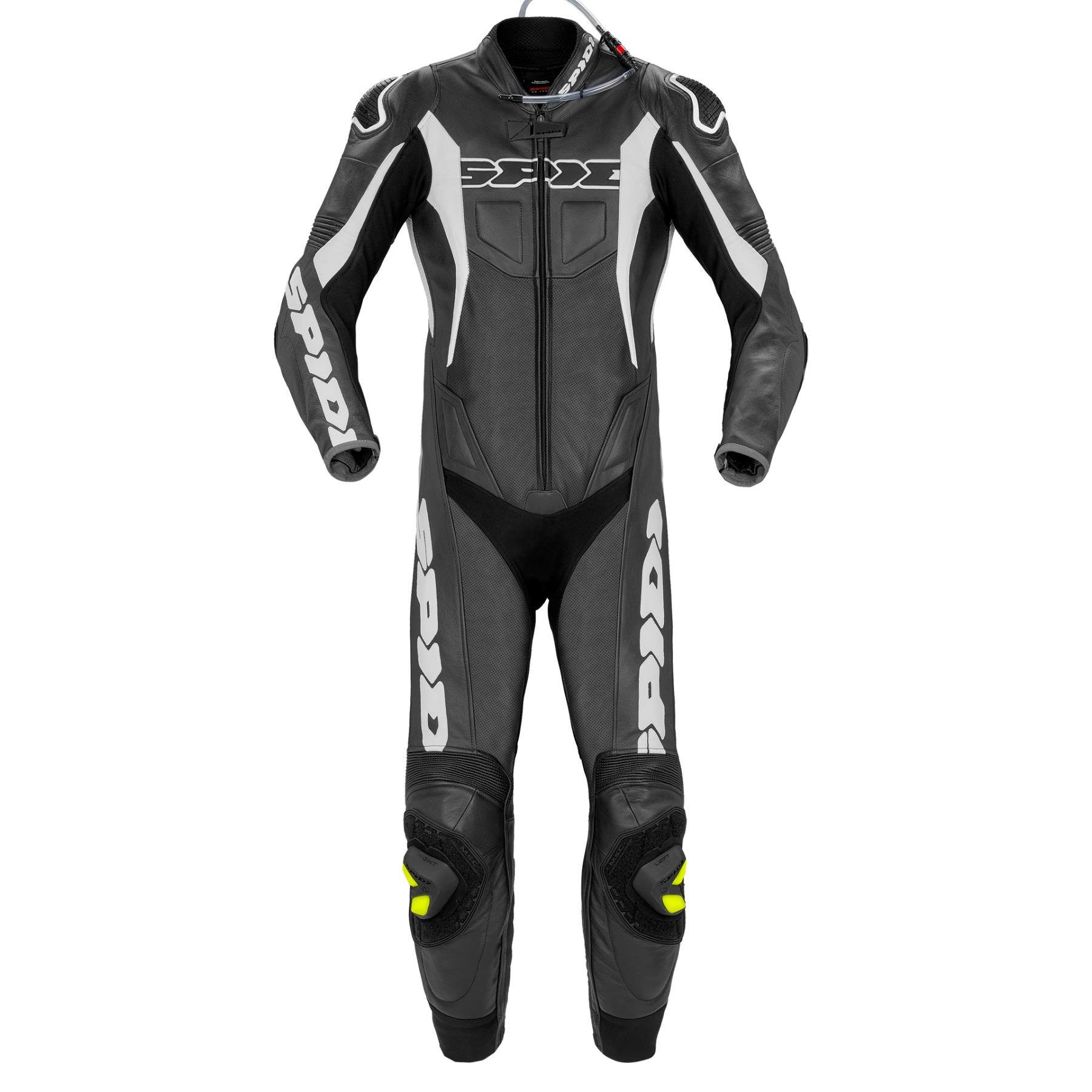 Afbeelding van spidi sport warrior perf. pro black white one piece racing suit